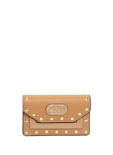 Love Moschino Clutch / El Çantası Taba